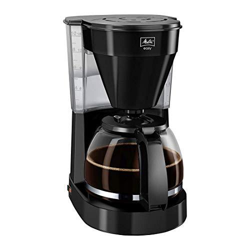 Melitta Easy 1023-02 , Filterkaffeemaschine mit Glaskanne, Kompaktes Design, Schwarz (Generalüberholt)