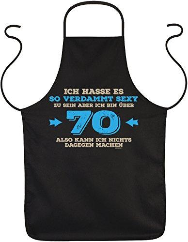 Geschenk zum 70. Geburtstag Schürze ich bin über 70… zum 80 Geburtstag Küchenschürze 70 jähriger Geschenk für 70 Jährige Oma Opa