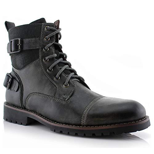 Polar Fox Men's Patrick Combat Boot grey Size: 6 UK
