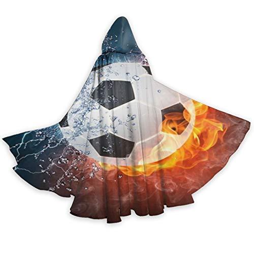 TYHG - Capa unisex con capucha para Halloween, juego de roles, 3D, para el agua y el fuego, disfraz de fiesta de Navidad, para mujeres, hombres, cosplay