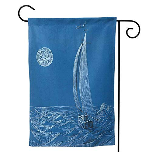 Garden Flags Double-Sided Polyester Vertical Outdoor Yard flag Mini for All Seasons Saguaro Big Cactus on the Valley Over Bartlett Lake in Desert Shallow Root Nature Image Blue Green Decorative 12x18