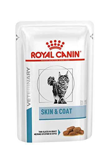 Royal Canin - Royal Canin Vet Care Nutrition Cat Skin & Coat, sacchetto 12 x 100 g