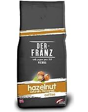 Der-Franz Kaffee, Mischung aus Arabica und Robusta, geröstet, ganze Bohne aromatisiert mit natürlicher Haselnuss UTZ