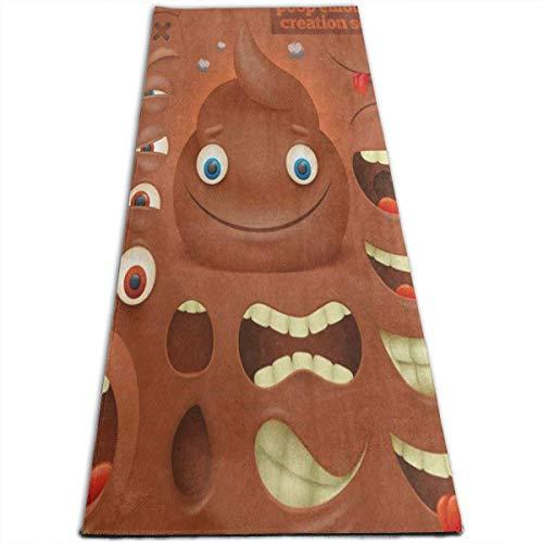 NA Cartoon Yogamatte mit KOT-Emoticon-Motiv, für alle Arten von Yoga, Pilates und Bodenübungen (17,8 x 61 x 8 mm)