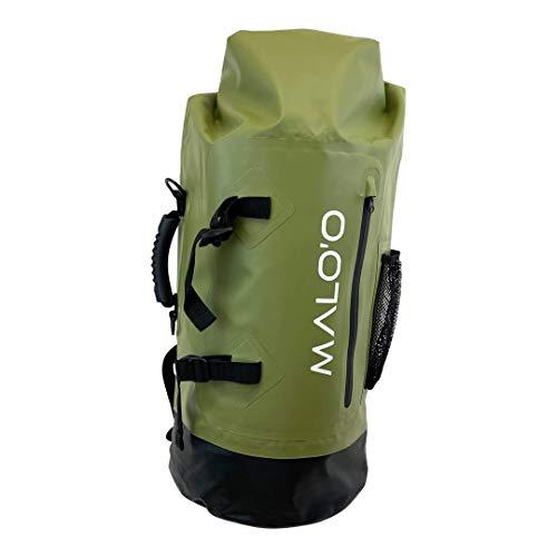 Malo'o DryPack Waterproof Backpack Dry Bag (Dark Green)