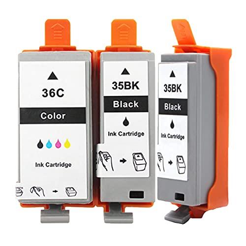 Cartuchos De Tinta Remanufacturados Para PGI-35BK CLI-36C, Reemplazo Compatible Con La Impresora IP100 IP110 De Para Canon, Traje Negro Y Color Package 3