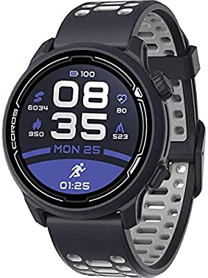 COROS PACE 2 Premium GPS Sport Watch with Nylon or Silicone Band, Heart Rate Monitor, 30h Full GPS Battery, Barometer, ANT+ & BLE Connections, Strava, Stryd & TrainingPeaks (Navy - Silicone Strap)