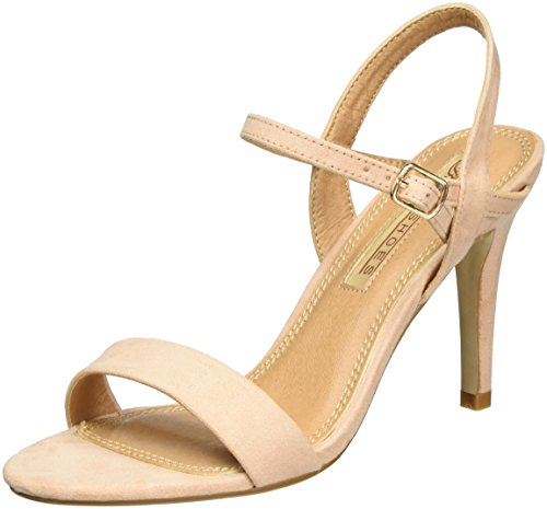 Buffalo Shoes Damen 314258 IMI Suede BHWMD A16 Knöchelriemchen, Beige (Nude 01), 41 EU