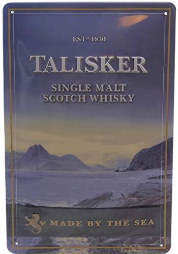 TALISKER Single Malt Scotch Whisky - stabiles und geprägtes Blechschild, 30 x 20 cm