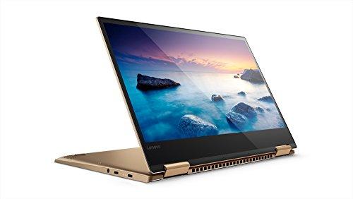 Lenovo 80X6001NIX Yoga 720-13IKB Convertibile con Display da 13.3', Processore Intel Core i5-7200U da 2.5 GHz, 8 GB DDR4-SDRAM, 256 GB SSD, Scheda Grafica Intel HD Graphics 620, Windows 10 Home, Oro