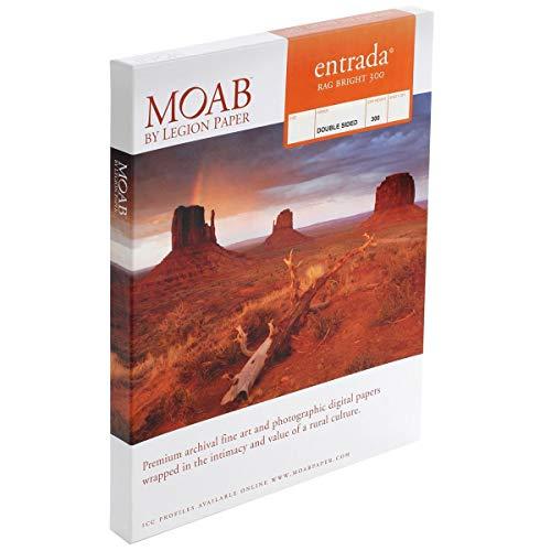"Moab entrada rag bright 300 paper (8. 5 x 11"", 25 sheets)"