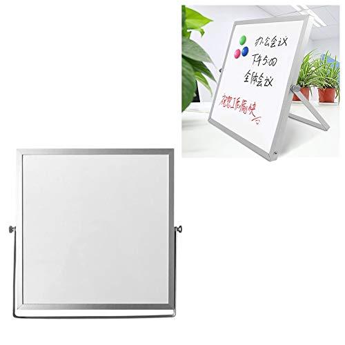 FNMYH Tablero de Escritura del Mensaje de la pequeña Pizarra del Escritorio magnético portátil para el Estudio de la Familia de la Oficina, etc, Tamaño: 25 cm x 25 cm