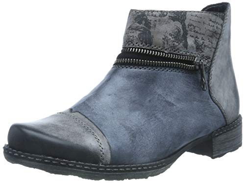 Remonte Damen D4361 Chelsea Boots, Grau (Negro/Ozean/Schwarz/Cigar 14), 40 EU