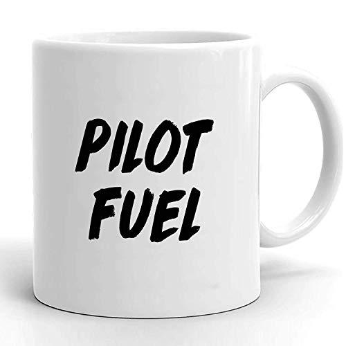 Taza de cerámica, regalo de piloto, taza de piloto, regalo para piloto, regalos de piloto, taza de café para piloto, taza de café para piloto, mejor piloto del mundo, combustible para piloto, mejor pi