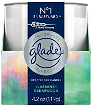 A Product of Glade Atmosphere Collection Soy Candle, No 1 Enraptured, Jasmine Cedarwood 4.2 oz