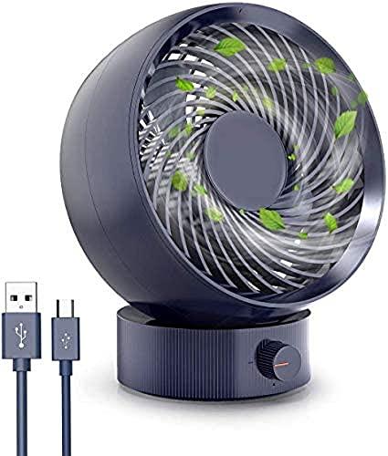 JLKDF Mini Ventilador de Escritorio Alimentado por USB, Ventilador Personal, portátil, Mesa pequeña, Ventilador silencioso para Coche, Oficina, habitación, Viajes domésticos al Aire libr