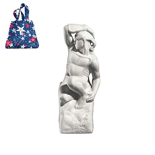 Royal Copenhagen sterrenbeeld man, expressieve porseleinen sculptuur + gratis Mini Maxi Shopper