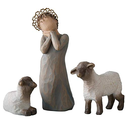 Willow Tree Little Shepherdess with Lambs Nativity Figurine 26442 Susan Lordi