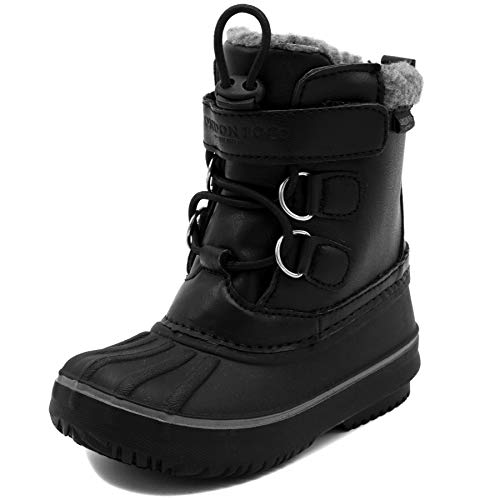 LONDON FOG Boys Oxford Toddler Cold Weather Snow Boot Black 7