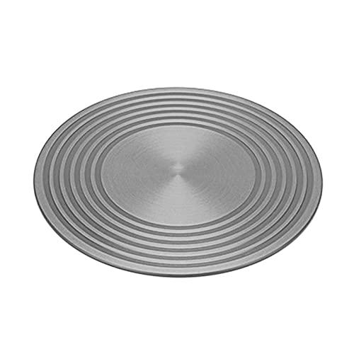 6SHINE - Diffusore di calore rotondo in alluminio, vassoio di sbrinamento rapido, multifunzione, anti-bruciore, per la casa, cucina, pentole e pentole di protezione (dimensioni: 28 cm x 4 mm)