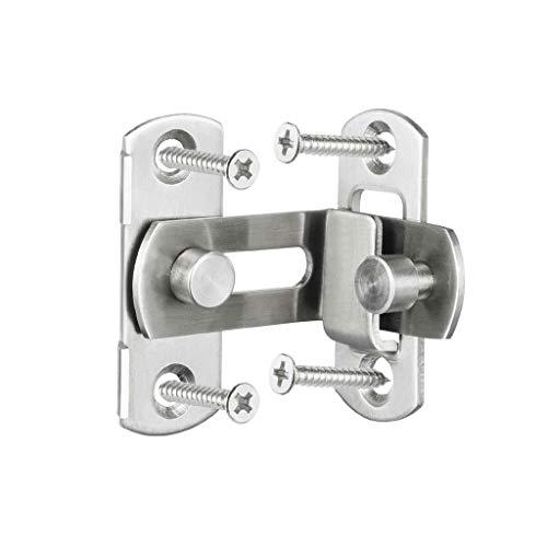SCDMY 3/4 pulgadas 90 grados ángulo recto puerta cerrojo cierre cierre de barril con tornillos para puertas hebilla perno deslizante cerradura (tamaño: pequeño)