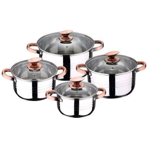 San Ignacio Premium Nona - Bateria de cocina de 4 piezas, acero...