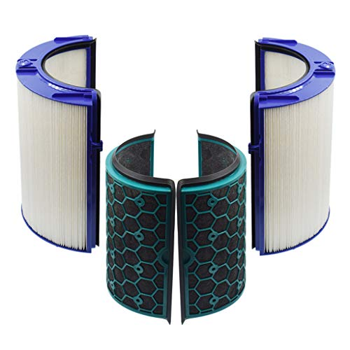 HEPA Filter & Activated Carbon Filter Compatible with Dyson Air Purifier TP04 HP04 DP04 Sealed Two Stage 360° Filter System Pure Cool Purifying Fan