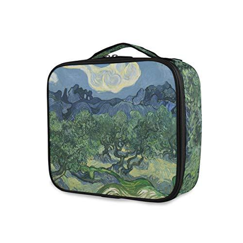 Outils de mode Cosmétique Train Case Mountain Olive Tree Peinture Voyage Portable Trousse De Toilette Maquillage Sac De Rangement