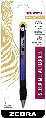 Zebra StylusPen Retractable Ballpoint Pen, Medium Point, 1.0mm, Black Ink, Key Lime Pie Barrel, 1-Count (33341)