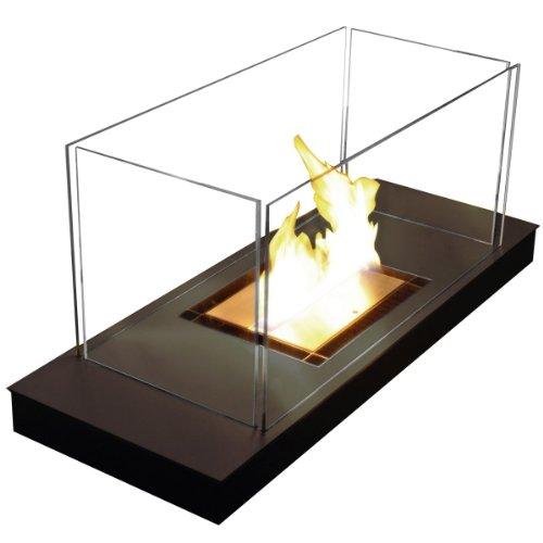 Uni Flame schwarz 1,7 L Feuerstelle Ethanolkamin in Stahl schwarz - 544 d