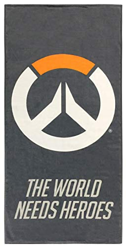 Overwatch Heroes Kids Bath/Pool/Beach Towel - Featuring Overwatch Logo - Super Soft & Absorbent Fade Resistant Cotton Towel, Measures 28 inch x 58 inch (Official Overwatch Product)