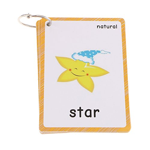 Fenteer Kids Early Learning Flash Cards Set Jeu De Cartes Images Et Mots éducatifs - Nature 15 pièces