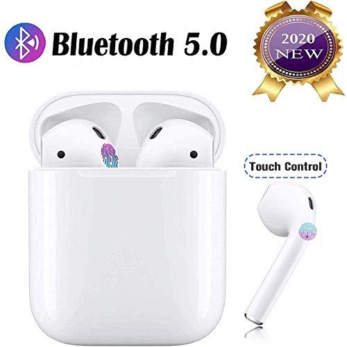 Auriculares Bluetooth, SANS MARQUE Auriculares inalámbricos Bluetooth 5.0 Sonido Estéreo Auricular Mini Twins In-Ear Auriculares Carga Rapida Resistente al Agua con Caja de Carga