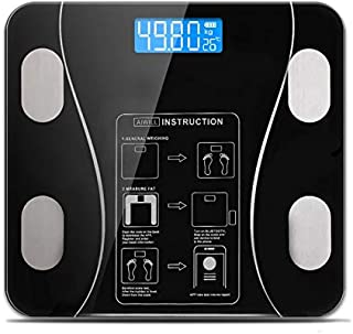 English Instruction Fat Scales Smart BMI Scale High Precision Touch Control Digital Bathroom Electronic Weight Scale Accur...