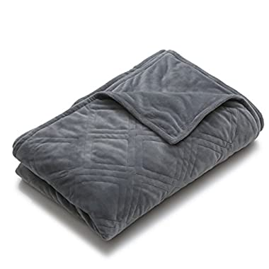 YnM Minky Duvet Cover for Weighted Blankets (60''x80'') - Grey Diamond Print