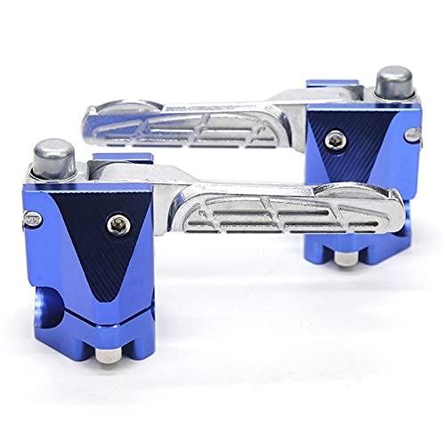 Foot Pegs reposapiés para y-Amaha BWS125 RC150 Chrome MOTORYCLEE FOOXPEGS Trasero DE PIEJO Pedal DE Pedal DE Pedal DE Paso DE PASAJE DE PASAJE DE Padres Accesorios DE Scooter (Color : Blue)