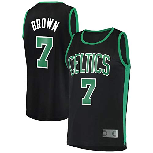 FTING Camisetas de baloncesto personalizadas Jaylen Celtics NO.7 Boston Brown Fast Break Jersey Kelly Verde - Edición Icono