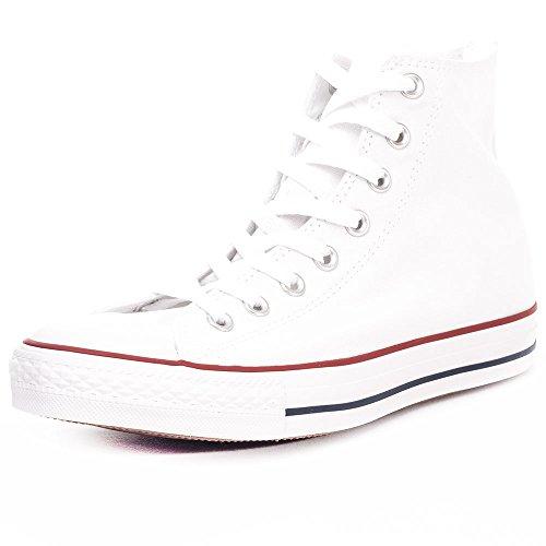 Converse Chuck Taylor all Star Hi Sneaker, Scarpe da Ginnastica Unisex-Adulto, Bianco, 42 EU