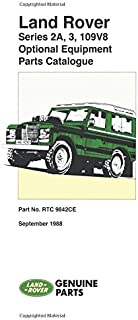 Land Rover Series IIA, III, 109V8 Optional Equipment Parts Catalog (Land Rover Parts Catalogue S.)