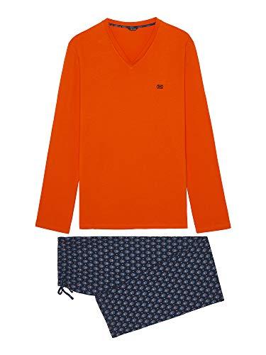 HOM Herren Long Sleepwear 'Malmousque' - orange - S