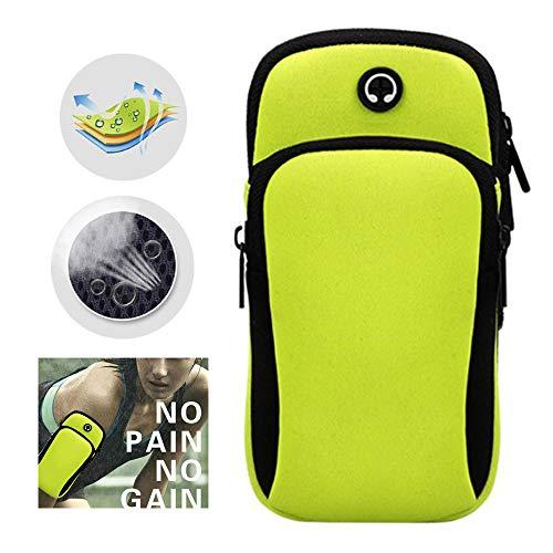 Bolsa de brazo para correr al aire libre, ranura para auriculares a prueba de agua, deportes para correr, bolsa de brazo para teléfono móvil, bolsa de muñeca