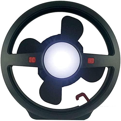Lámpara LED multifunción recargable por USB, para camping, para exteriores, velocidad del viento, ajuste de brillo