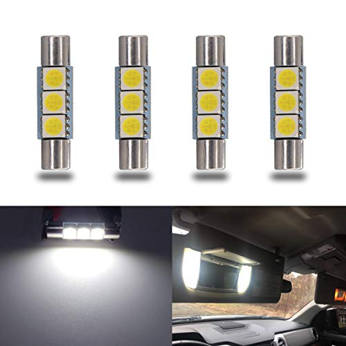 iBrightstar Newest 9-30V Super Bright 29mm 6614F 6612F for Car Sun Interior Vanity Mirror Sun Visor Lights, Xenon White