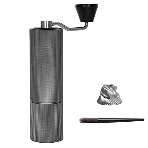 TIMEMORE Chestnut C2 MAX Manual Coffee Grinder with Adjustable Coarseness, Capacity 30g with CNC Stainless Steel Conical Burr, Pour Over Coffee for Hand Grinder Gift of Office Home Traveling Camping