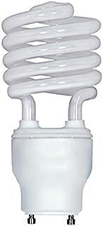 (Pack of 12) Satco S8207, 26 Watt (120 Watt) 1750 Lumens Mini Spiral CFL Warm White 2700K GU24 Base, Compact Fluorescent Light Bulb