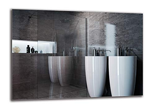 Espejo Standard - Espejo sin Marco - Dimensiones del Espejo 100x70 cm - Espejo de baño - Espejo de Pared - Baño - Sala de Estar - Cocina - Hall - M1ST-01-100x70 - ARTTOR