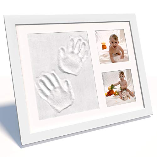Snuggle Monkey Baby Footprint & Handprint Clay Photo Frame Kit Gender Neutral Gifts