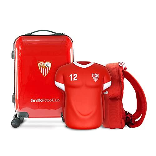 Pack Bolsa Viaje Forma Camiseta y Maleta Cabina Escudo SF