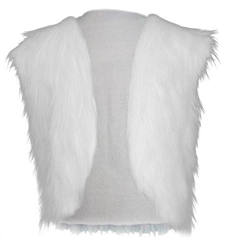 The Dragons Den Adultos Blanco Yeti Sausquach Abominable Mueco de nieve Imitacin Chaleco Bigfoot Fancy Dress [S/M]