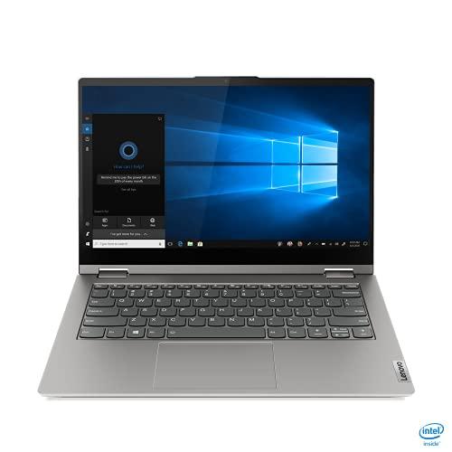Lenovo ThinkBook 14s Yoga ITL - Ordenador Portátil táctil 14' FullHD (Inel Core i7-1165G7, 16GB RAM, 512GB SSD, Intel Iris Xe Graphics, Windows 10 Pro), Gris - Teclado QWERTY Español